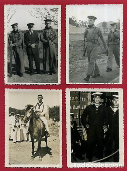 Militaria: LOTE 12 FOTOS FOTOGRAFIAS MILITARES , MARINEROS , MARINA DE CARTAGENA, MARINERIA, ORIGINALES, BL2 - Foto 3 - 138658474
