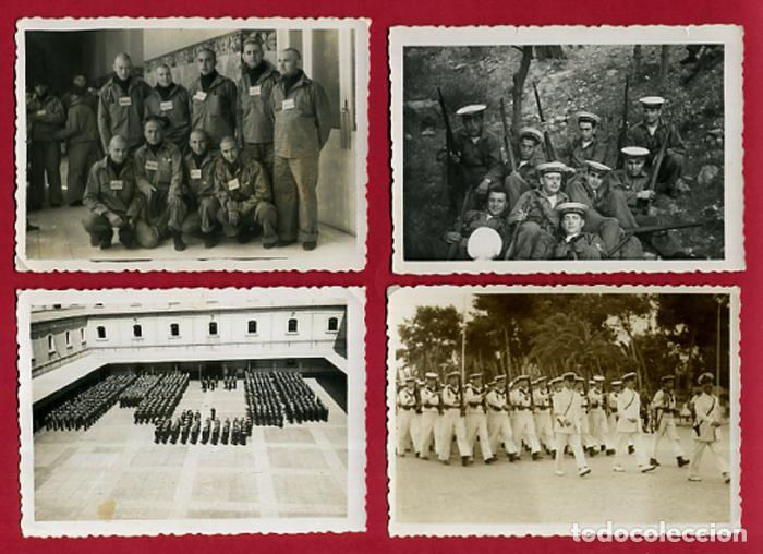 Militaria: LOTE 12 FOTOS FOTOGRAFIAS MILITARES , MARINEROS , MARINA DE CARTAGENA, MARINERIA, ORIGINALES, BL2 - Foto 4 - 138658474