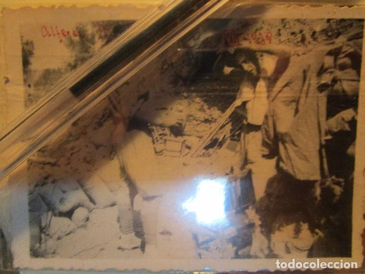 ALFEREZ MENA LEGIONARIO ( CAIDO ) GANDESA FOTO EN PLENA GUERRA CIVIL EN EL CAMPAMENTO XII 1938 (Militar - Fotografía Militar - Guerra Civil Española)