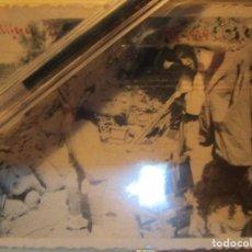 Militaria: ALFEREZ MENA LEGIONARIO ( CAIDO ) GANDESA FOTO EN PLENA GUERRA CIVIL EN EL CAMPAMENTO XII 1938. Lote 138729794