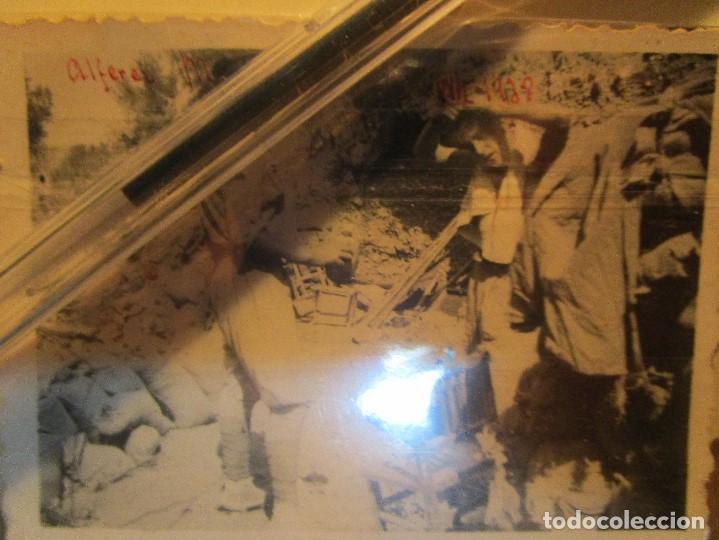 Militaria: ALFEREZ MENA LEGIONARIO ( CAIDO ) GANDESA FOTO EN PLENA GUERRA CIVIL EN EL CAMPAMENTO XII 1938 - Foto 2 - 138729794