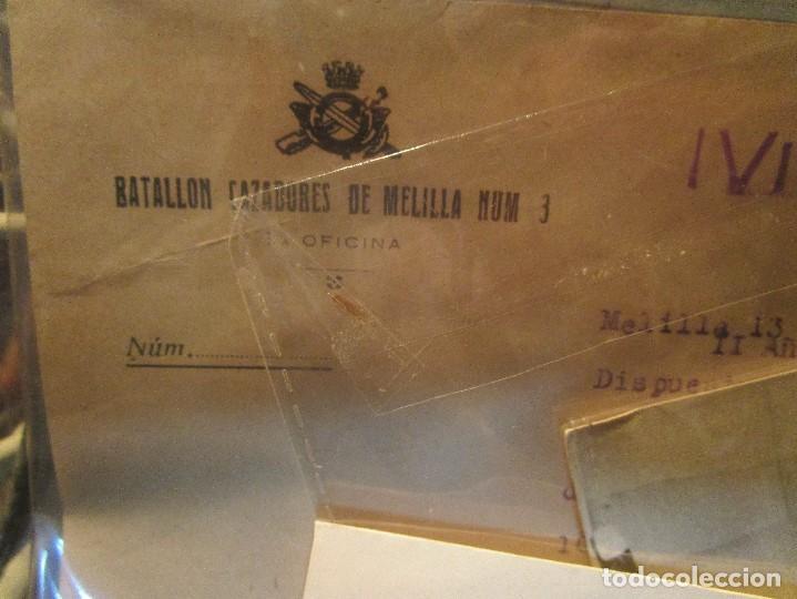 Militaria: DOCUMENTO TENIENTE IMPOSICION MEDALLA SUFRIMIENTO HERIDO BATALLA EBRO LEGION GUERRA CIVIL - Foto 4 - 138742774