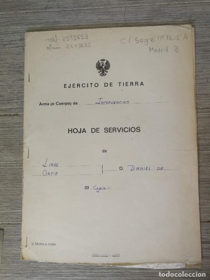 Militaria: ANTIGUA FOTOGRAFIA OFICIAL DE GALA - GENERAL DE INTERVENCIÓN - REGULARES - CON SUS CONDECORACIONES - Foto 3 - 138990290