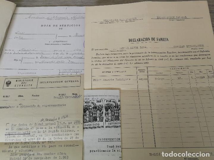 Militaria: ANTIGUA FOTOGRAFIA OFICIAL DE GALA - GENERAL DE INTERVENCIÓN - REGULARES - CON SUS CONDECORACIONES - Foto 4 - 138990290