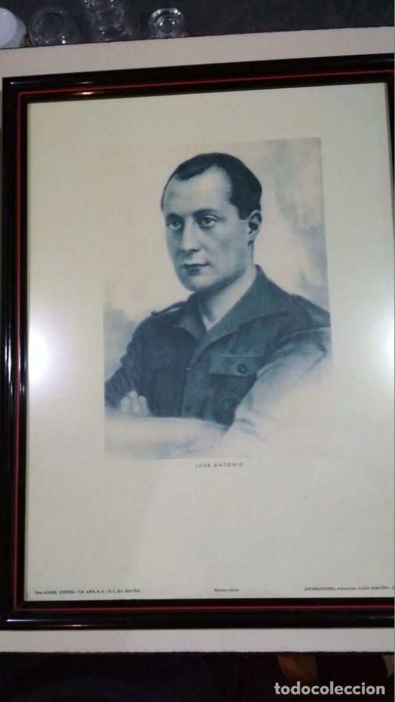 FOTOGRAFÍA PRIMO DE RIVERA ENMARCADA, FOTO ANGEL CORTES. 43X23 CM (Militar - Fotografía Militar - Guerra Civil Española)