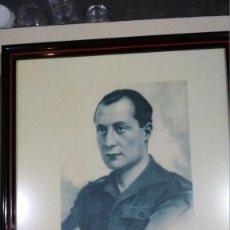 Militaria: FOTOGRAFÍA PRIMO DE RIVERA ENMARCADA, FOTO ANGEL CORTES. 43X23 CM. Lote 139131714