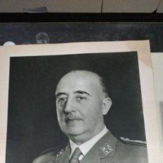Militaria: FOTOGRAFÍA FRANCISCO FRANCO DE JALÓN ANGEL 45X61 CM. . Lote 139131830