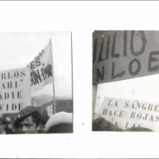 Militaria: ANTIGUA FOTOGRAFIA CONCENTRACION JUVENTUDES CARLISTAS - LOTE DE 2 FOTOS. Lote 139304742