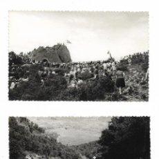 Militaria: ANTIGUA FOTOGRAFIA CONCENTRACION CARLISMO - CARLISTAS - LOTE DE 2 FOTOS. Lote 139305338