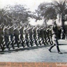 Militaria: SEVILLA GUERRA CIVIL FOTOGRAFIA DE AGENCIA FULGUR PHOTO PRESS PRIMER DESFILE DE VICTORIA DE FRANCO. Lote 139419490