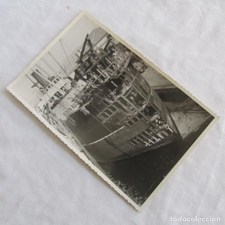 FOTOGRAFÍA DE LA REPARACIÓN DEL BUQUE A VAPOR VALENTÍN RUIZ SENEN 8-3-1950. 17X11 CM CARTAGENA (Militar - Fotografía Militar - Otros)