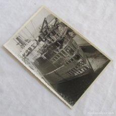 Militaria: FOTOGRAFÍA DE LA REPARACIÓN DEL BUQUE A VAPOR VALENTÍN RUIZ SENEN 8-3-1950. 17X11 CM CARTAGENA. Lote 139537646