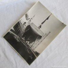 Militaria: FOTOGRAFÍA DE LA BOTADURA DE LOS B/34-35 VISTA DE POPA DEL GUADALETE 18-10-1944, 22X16 CM EL FERROL. Lote 139556694