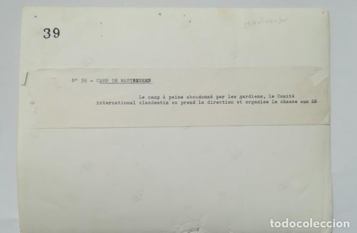 Militaria: FRANCISCO BOIX LIBERACIÓN DE MAUTHAUSEN GELATINA DE PLATA 18 x 24 EXILIADO GUERRA CIVIL - Foto 2 - 139645050