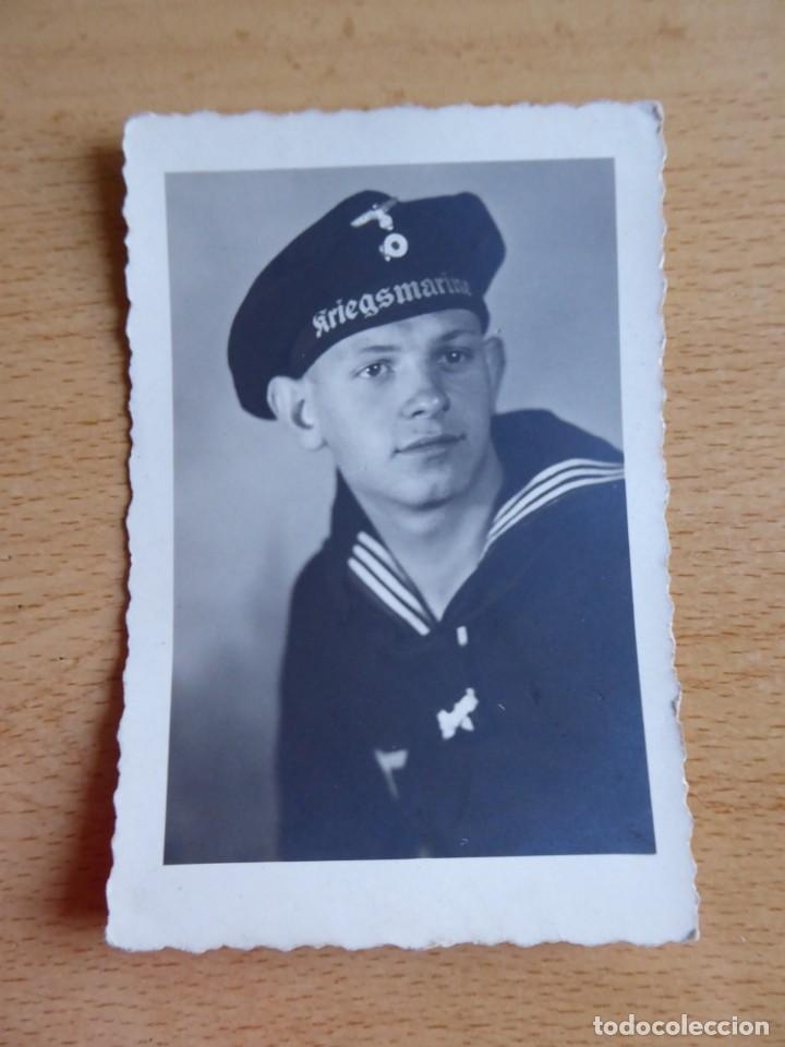 Militaria: Fotografía marinero alemán. Kriegsmarine - Foto 2 - 139675298