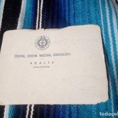 Militaria: CENTRAL OBRERA NACIONAL-SINDICALISTA.ADALIA-VALLADOLID.. Lote 139722530