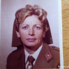Militaria: FOTOGRAFÍA DAMA AUXILIAR SANIDAD MILITAR DEL EJÉRCITO ESPAÑOL.. Lote 139744714