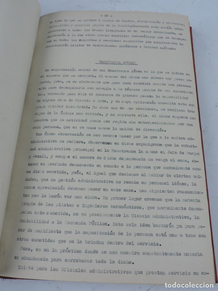 Militaria: ANTIGUO ALBUM DE AVIACION DE FOTOGRAFIAS CON ESTUDIO DE LOS PROBLEMAS DE LA INTENDENCIA DEL AIRE 19 - Foto 5 - 139965870