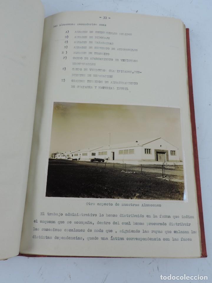 Militaria: ANTIGUO ALBUM DE AVIACION DE FOTOGRAFIAS CON ESTUDIO DE LOS PROBLEMAS DE LA INTENDENCIA DEL AIRE 19 - Foto 8 - 139965870