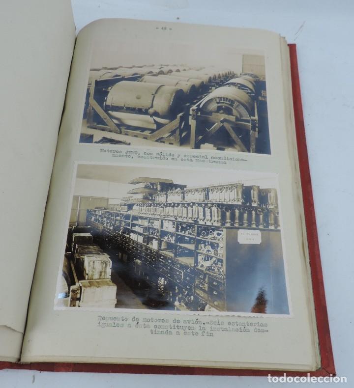 Militaria: ANTIGUO ALBUM DE AVIACION DE FOTOGRAFIAS CON ESTUDIO DE LOS PROBLEMAS DE LA INTENDENCIA DEL AIRE 19 - Foto 15 - 139965870
