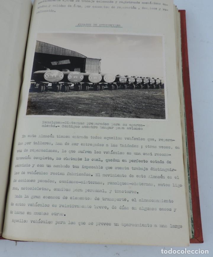 Militaria: ANTIGUO ALBUM DE AVIACION DE FOTOGRAFIAS CON ESTUDIO DE LOS PROBLEMAS DE LA INTENDENCIA DEL AIRE 19 - Foto 16 - 139965870