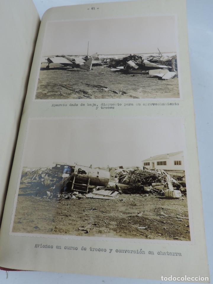 Militaria: ANTIGUO ALBUM DE AVIACION DE FOTOGRAFIAS CON ESTUDIO DE LOS PROBLEMAS DE LA INTENDENCIA DEL AIRE 19 - Foto 18 - 139965870
