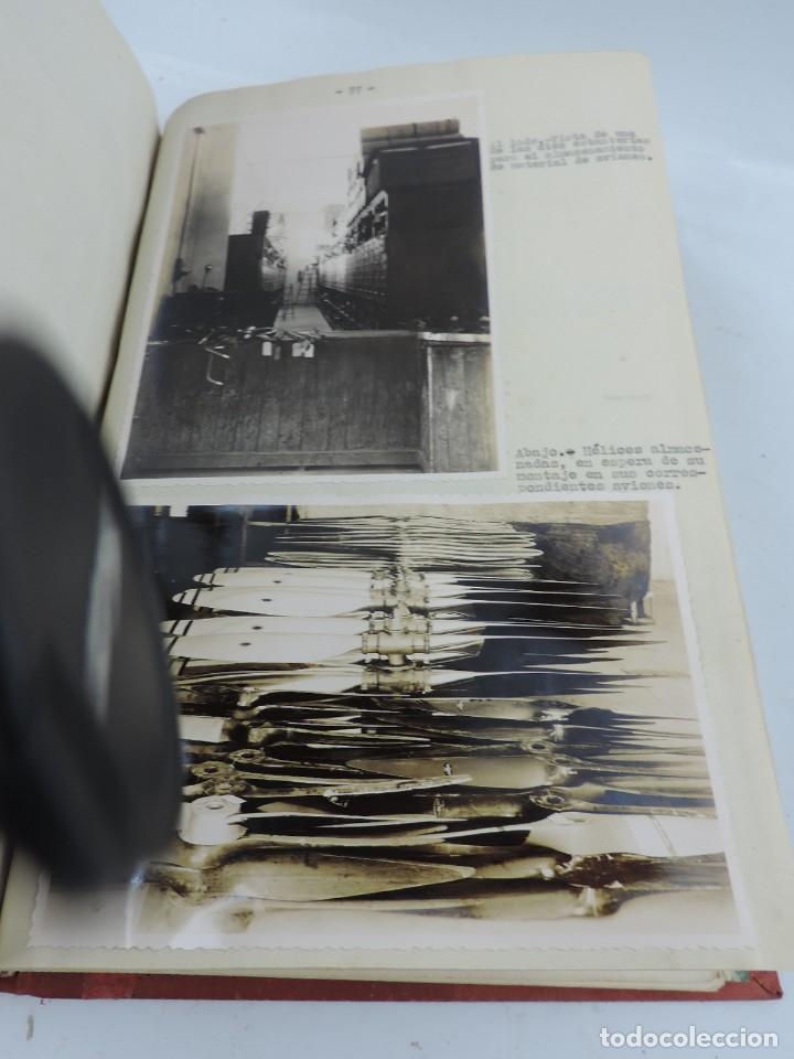 Militaria: ANTIGUO ALBUM DE AVIACION DE FOTOGRAFIAS CON ESTUDIO DE LOS PROBLEMAS DE LA INTENDENCIA DEL AIRE 19 - Foto 19 - 139965870