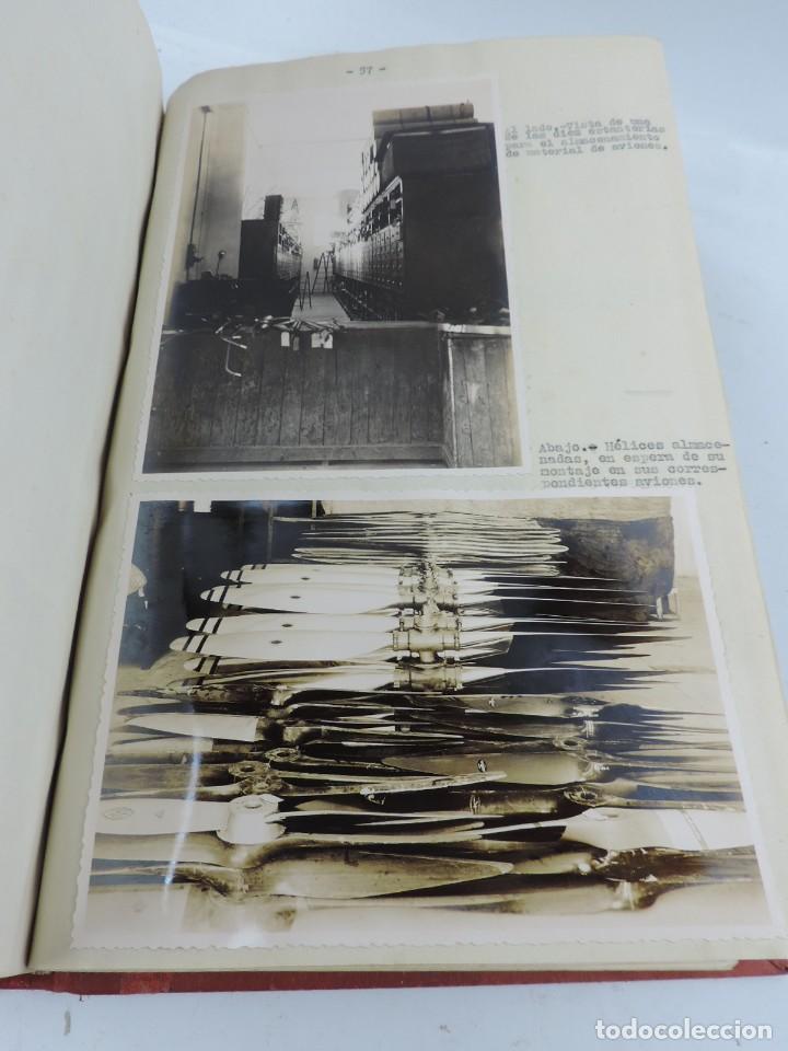 Militaria: ANTIGUO ALBUM DE AVIACION DE FOTOGRAFIAS CON ESTUDIO DE LOS PROBLEMAS DE LA INTENDENCIA DEL AIRE 19 - Foto 20 - 139965870
