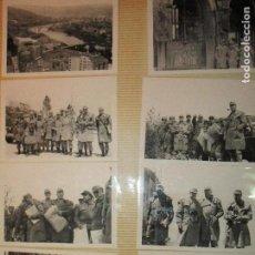 Militaria: ALBUM MILITAR 40 FOTOGRAFIAS ANTIGUAS AYUNTAMIENTO MURIAS DE PENEDES LEON OFICIALESLEGION G.CIVIL. Lote 140060022