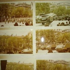 Militaria: LOTE 12 FOTOGRAFIAS ANTIGUAS DESFILE LEON AVIACION OFICIALES AVIONES CARROS TANQUES. Lote 140060306
