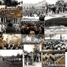 Militaria: 14 FOTOGRAFÍAS CAMPAMENTOS DE LA OJE. ORGANIZACIÓN JUVENIL ESPAÑOLA. VARIAS ACTIVIDADES.- 24 X 18 CM. Lote 140238190