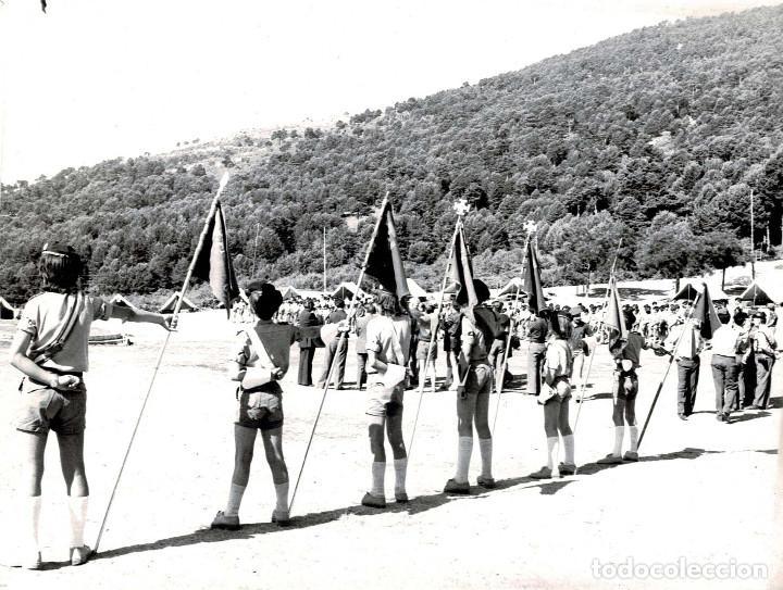 Militaria: 14 FOTOGRAFÍAS CAMPAMENTOS DE LA OJE. ORGANIZACIÓN JUVENIL ESPAÑOLA. VARIAS ACTIVIDADES.- 24 X 18 CM - Foto 2 - 140238190