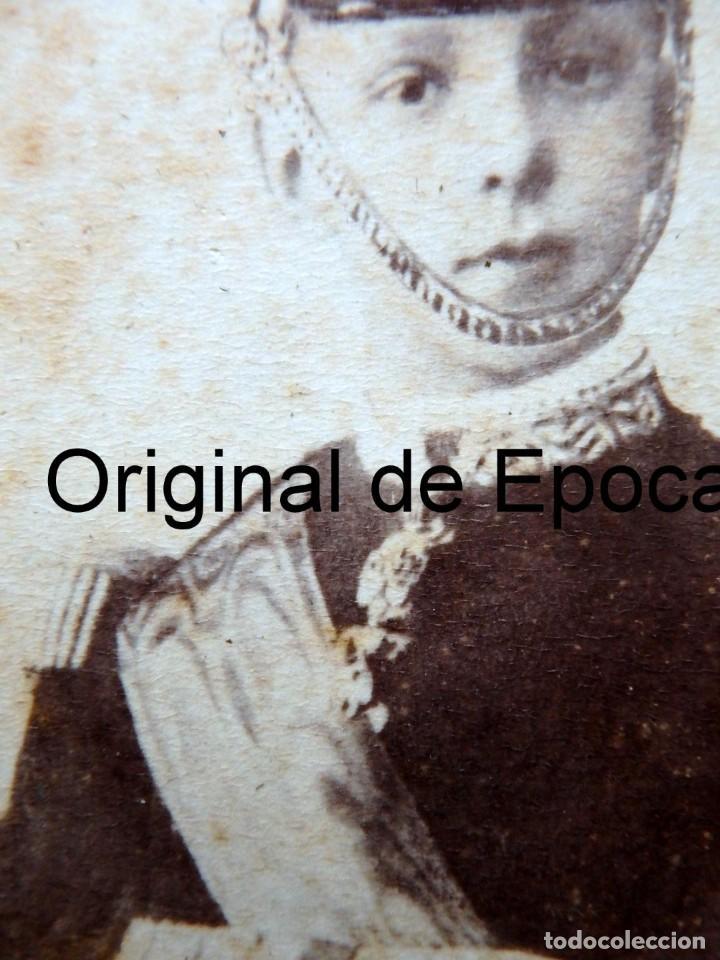 Militaria: (JX-181154)Fotografía de un jovencisimo Rey D. Alfonso XII con uniforme de Capitán General . - Foto 4 - 140242866