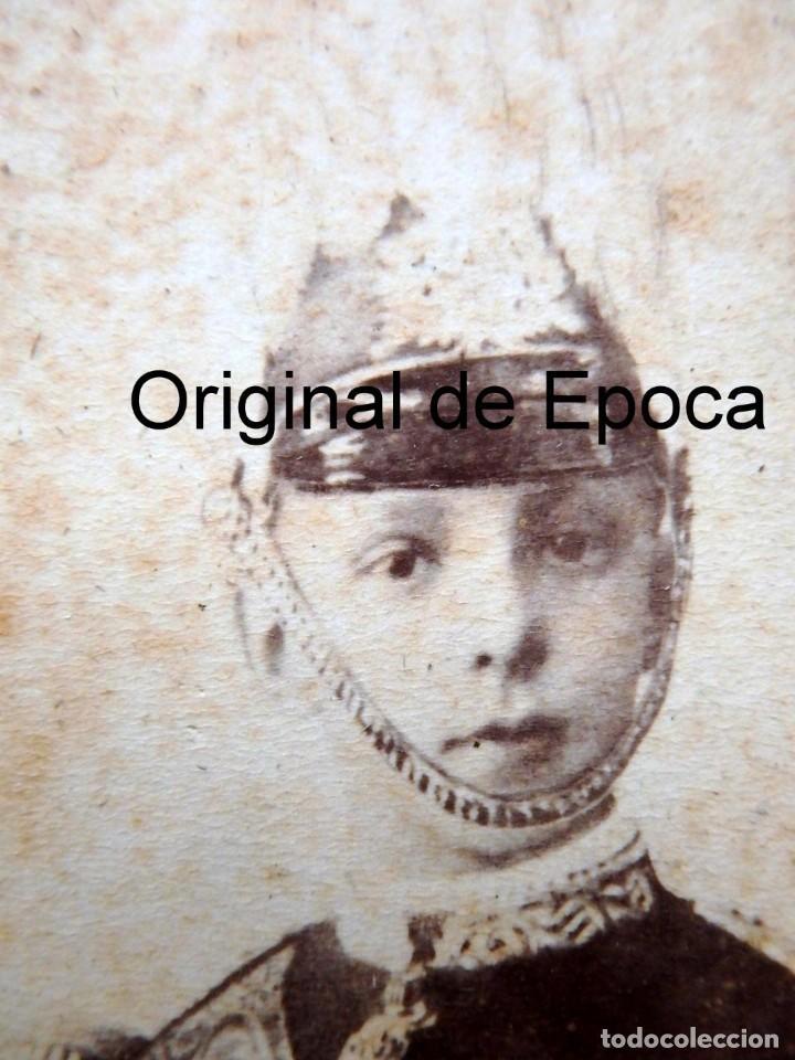 Militaria: (JX-181154)Fotografía de un jovencisimo Rey D. Alfonso XII con uniforme de Capitán General . - Foto 5 - 140242866