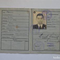 Militaria: WWII ORIGINAL GERMAN DOCUMENT KENNKARTE. Lote 140269362