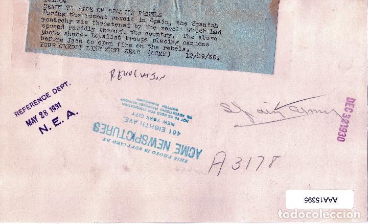 Militaria: CAÑONES CONTRA REBELION DE JACA(HUESCA) 1930 GALAN Y GARCIA HERNANDEZ PRE GUERRA CIVIL - Foto 2 - 140500570