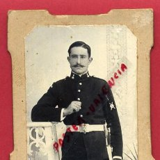 Militaria: FOTOGRAFIA TARJETA CARTA DE VISITA , FOTO MILITAR DE ARTILLERIA , ORIGINAL ,TV2563. Lote 140519530