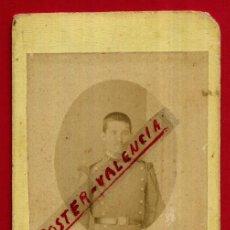 Militaria: FOTOGRAFIA TARJETA CARTA DE VISITA , FOTO MILITAR , ANGEL GARRORENA BADAJOZ ,ORIGINAL ,TV2566. Lote 140520334