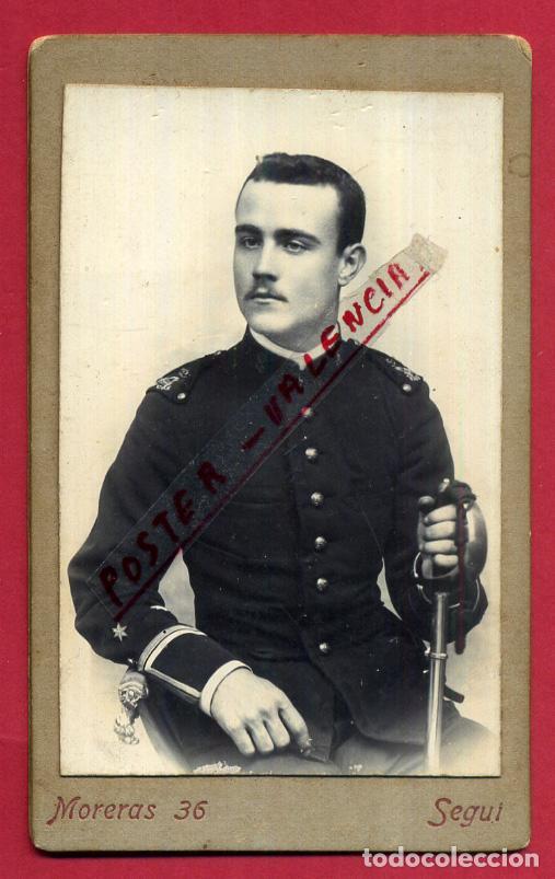 FOTOGRAFIA TARJETA CARTA DE VISITA , FOTO MILITAR , F. SEGUI , MAHON ,ORIGINAL ,TV2567 (Militar - Fotografía Militar - Otros)