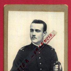 Militaria: FOTOGRAFIA TARJETA CARTA DE VISITA , FOTO MILITAR , F. SEGUI , MAHON ,ORIGINAL ,TV2567. Lote 140520446
