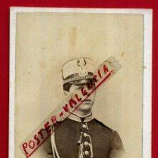 Militaria: FOTOGRAFIA TARJETA CARTA DE VISITA , FOTO MILITAR , JUAN HORTELANO , VALLADOLID ,ORIGINAL ,TV2568. Lote 140520726