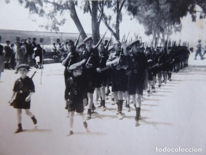 FOTOGRAFÍA NIÑOS FALANGISTAS. ALGECIRAS 1938 (Militar - Fotografía Militar - Guerra Civil Española)
