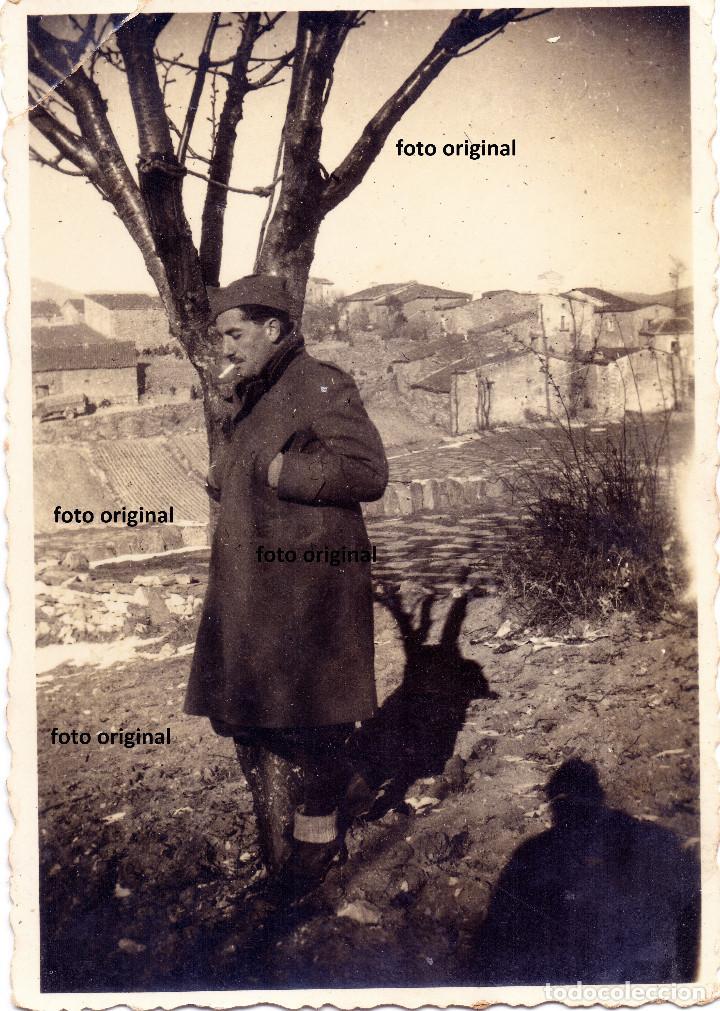 SOLDADO ITALIANO CTV DIVISION LITTORIO EN ALCALA DE EBRO(ZARAGOZA) GUERRA CIVIL (Militar - Fotografía Militar - Guerra Civil Española)