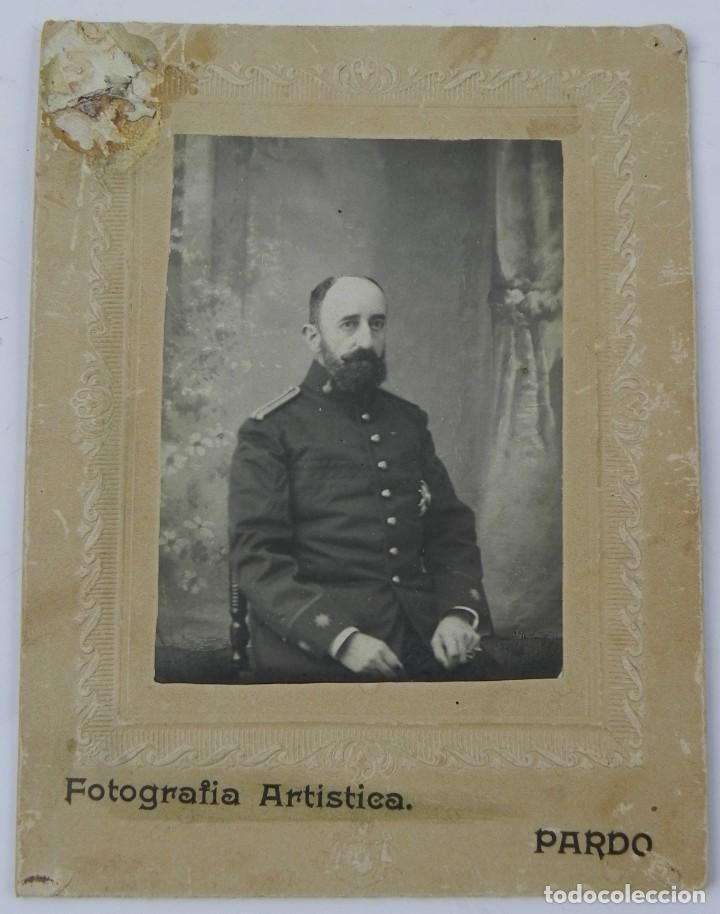 FOTOGRAFIA DE TENIENTE CORONEL DE ARTILLERIA, EPOCA DE ALFONSO XIII, FOTOGRAFO PARDO DE MADRID, MIDE (Militar - Fotografía Militar - Otros)