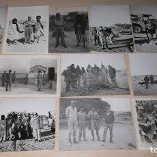 Militaria: LOTE FOTOGRAFIAS MILITARES SAHARA ESPAÑOL, AÑO 1964-65. Lote 140881790