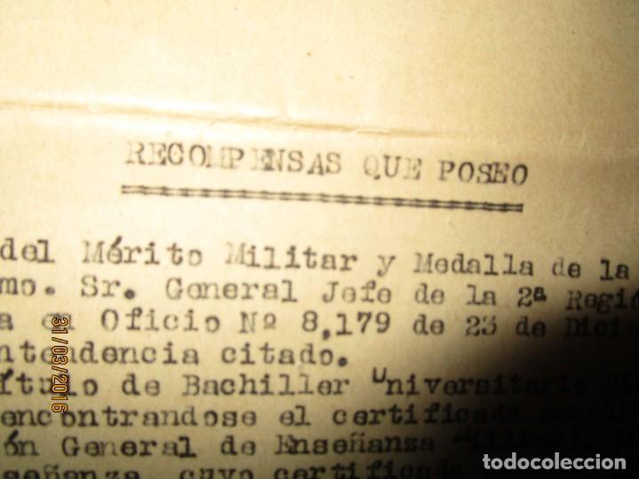 SERVICIOS PRESTADOS TENIENTE FALANGE EN GUERRA CIVIL INTENDENCIA EN MALAGA MEDALLA CAMPAÑA (Militar - Fotografía Militar - Guerra Civil Española)