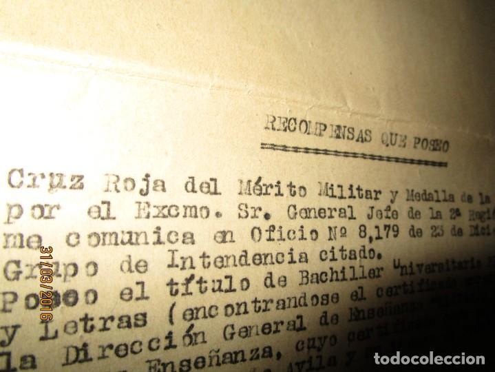 Militaria: SERVICIOS PRESTADOS TENIENTE FALANGE EN GUERRA CIVIL INTENDENCIA EN MALAGA MEDALLA CAMPAÑA - Foto 4 - 141327490