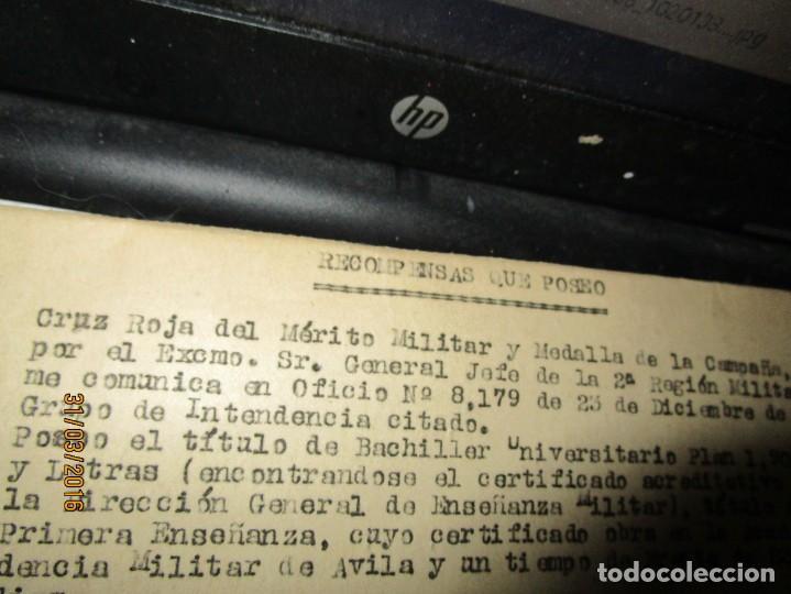 Militaria: SERVICIOS PRESTADOS TENIENTE FALANGE EN GUERRA CIVIL INTENDENCIA EN MALAGA MEDALLA CAMPAÑA - Foto 5 - 141327490