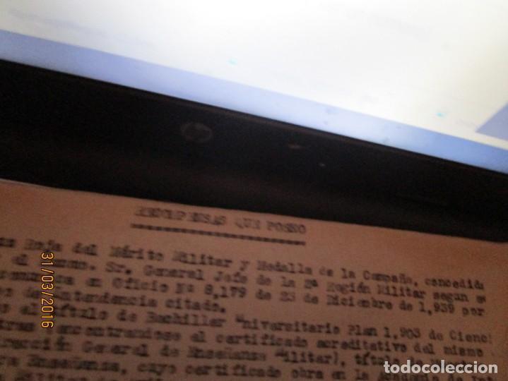 Militaria: SERVICIOS PRESTADOS TENIENTE FALANGE EN GUERRA CIVIL INTENDENCIA EN MALAGA MEDALLA CAMPAÑA - Foto 6 - 141327490