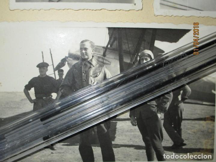 Militaria: AVIACION OFICIAL DE CEUTA PILOTO CON SU AVION GUERRA CIVIL ESPAÑOLA FOTO ORIGINAL INEDITA - Foto 2 - 141449542